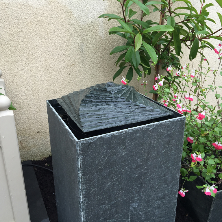 Spiral Slate Water Feature, Stone Water Feature