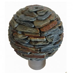 Slate ball water feature